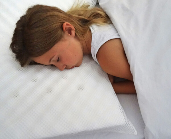 A Sleep-Safe pillow won't block the nose and mouth.
